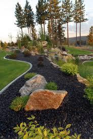 Rocks In Garden Garden Rock Landscaping Front Yard Black Lava Rock For