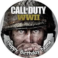 call of duty cake topper call of duty ww2 cod 7 5 cake topper icing or ricepaper ebay