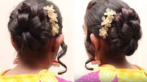 flower hair bun flower bun hair style for hair bridal bun hair style