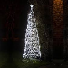 8ft white led twinkling spiral tree rope light