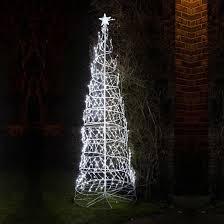 8ft white led twinkling spiral tree rope light