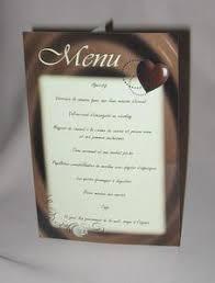 prã sentation menu mariage informations menus les faire parts malins et pas chers