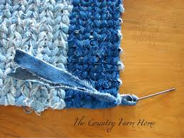 Rag Rug Weaving Instructions The Country Farm Home Rag Rug Weaving Tutorial And Tips