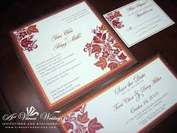 E Wedding Invitation Cards Red And Brown Wedding Invitation U2013 A Vibrant Wedding