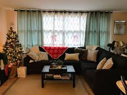 Living Room Song A Jolly Home Christmas Decor Tree Gray Alenya Sectional Couch
