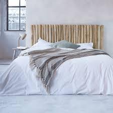 Bed Headrest Driftwood Bead Headboard River Design Bed Headrest Tikamoon
