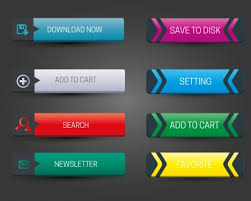 buttons designen horizontal website buttons design with classical style vectors
