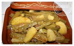 cuisiner des cardes tajine de viande et cardons طجين الخرشوف sousoukitchen
