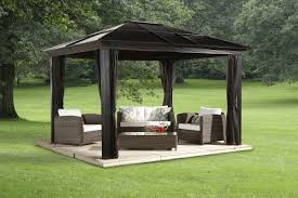 sojag sedona aluminum permanent gazebo u0026 reviews wayfair