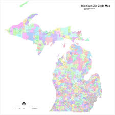 michigan area code map michigan zip code map roundtripticket me