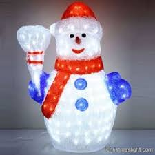 lighted snowman outdoor decorations led characters