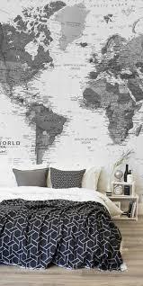 Wohnideen Schlafzimmer Beleuchtung Dekoideen Weltkarte Wanddeko Wohnideen Schlafzimmer Zimmer