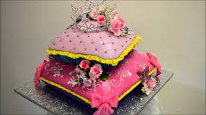 baby princess theme pillow cake fondant icing cake ideas youtube