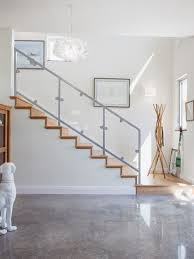 finished basement staircase railings houzz