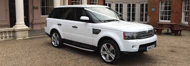 white land rover black rims range rover vogue hire limousines in london