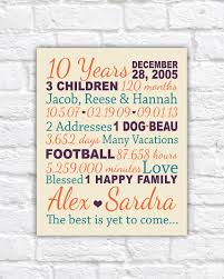 10 year anniversary gift ideas for anniversary gift for 10 years 20 years gifts for him paper