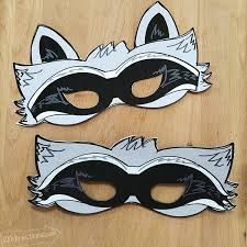costume masks diy raccoon costume with printable mask 100 directions