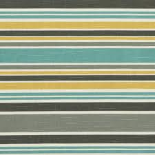 Striped Roman Shades Aqua Yellow Grey Striped Upholstery Fabric Custom Grey