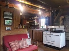 kilcher homestead kitchen red bench checkered pillows w u2026 flickr