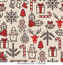 christmas background seamless tiling vector illustration stock