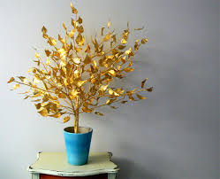 gold tree made from scrap gold sticky foil i a tonne flickr