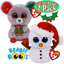 amazon ty beanie boos scoop snowman u0026 mac mouse holiday