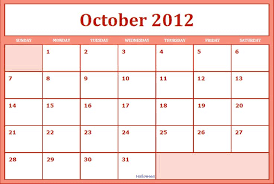 29 images of 2012 october calendar template infovia net