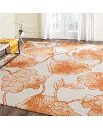 7x7 Area Rugs Winter Shopping Sales On Haslett Area Rug Ivory Orange 7 X7