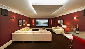 Home Cinema Living Room Ideas Living Room Home Theater Sectional Red Living Room With Sconces