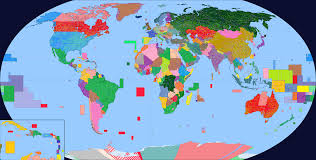 Jordan World Map by Colored World Map With Primary Secondary And Tertiary Borders