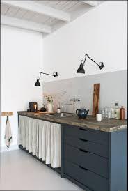 rideau tissu meuble cuisine idées décoration intérieure