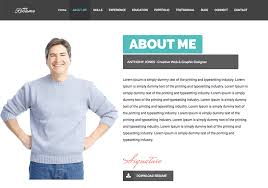 personal resume website templates free cv template ideas web