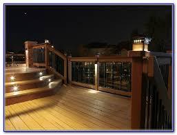solar led outdoor deck lighting decks home decorating ideas