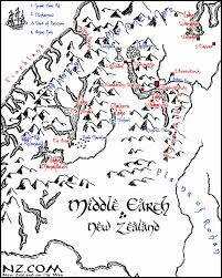 map from lord of the rings lord of the rings locations queenstown and fiordland new zealand