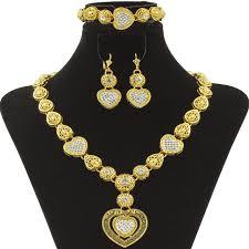 crystal design necklace images Liffly dubai fashion heart necklace luxury crystal design high jpg