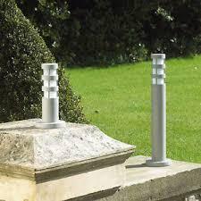 matching outdoor wall and post lights outdoor bollard light wall lights grey aluminium e27 l post light