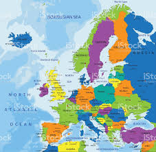 Labeled Map Of Europe by Colorful Europe Political Map Stock Vector Art 479150802 Istock