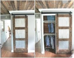 Rustic Closet Doors Ideas For Closet Doors Rustic Closet Doors Corrugated Metal In