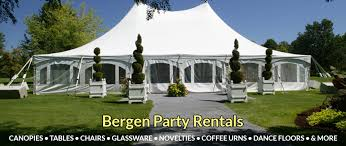 party tent rentals nj bergen party rentals new jersey tent rentals party rentals in new