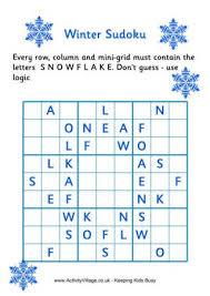 winter sudoku puzzles