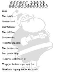 secret santa questionnaire christmas ideas secret santa