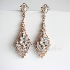 gold earrings for wedding gold wedding earrings chandelier bridal earrings