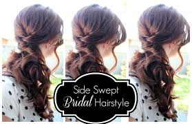 how to do side hairstyles for wedding side swept bridal hairstyle youtube