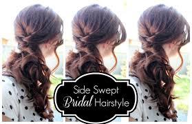 side swept bridal hairstyle youtube