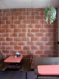 Cinder Block Decorating Ideas by How To Cover A Cinder Block Interior Cinder Blocks Brick