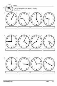 teach your kids to tell time to the nearest 5 with these handy
