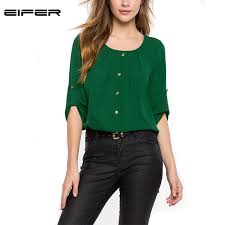 sleeve chiffon blouse 2016 summer autumn style casual office shirts
