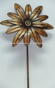 metal flowers and garden stakes plant stake cast iron outdoor