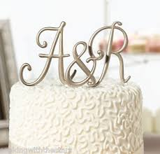lillian cake topper gold monogram wedding cake topper birthday anniversary caketop by