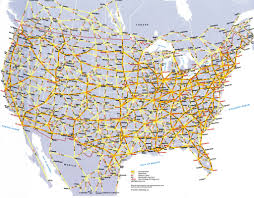 Map Of Nirth America by North America Mileage